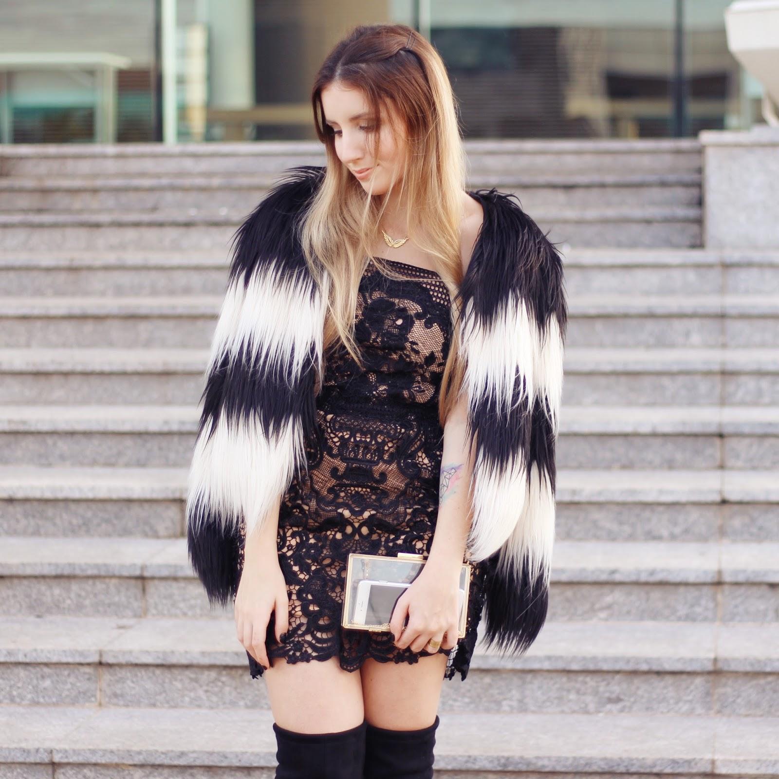 look do dia vestido curto no inverno