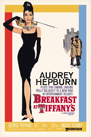 Audrey Hepburn, Breakfast at Tiffanys poster, Breakfast at Tiffanys