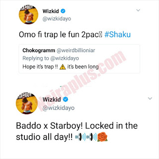 Wizkid tweet about working with Olamide
