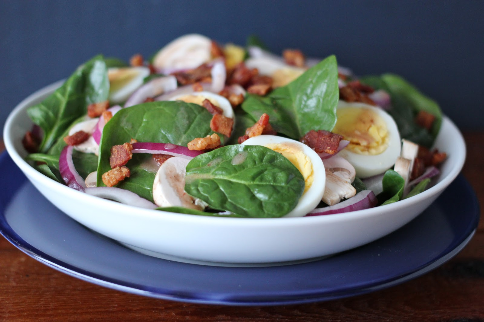 Arctic Garden Studio: Spinach Salad with Hot Bacon Dressing