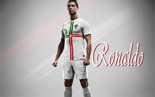 Cristiano Ronaldo with Portugal National Football Team Uniform HD Wallpaper