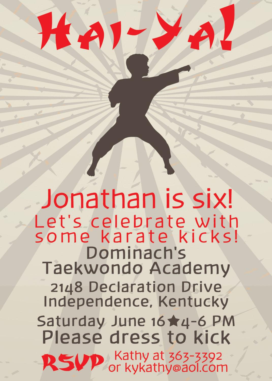 Here On Hartland: Hai-Ya! It\'s A Taekwondo Birthday!