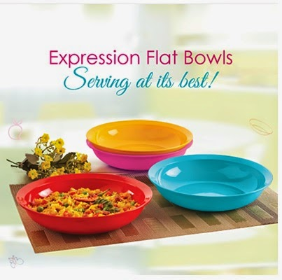 Tupperware expression flat bowls