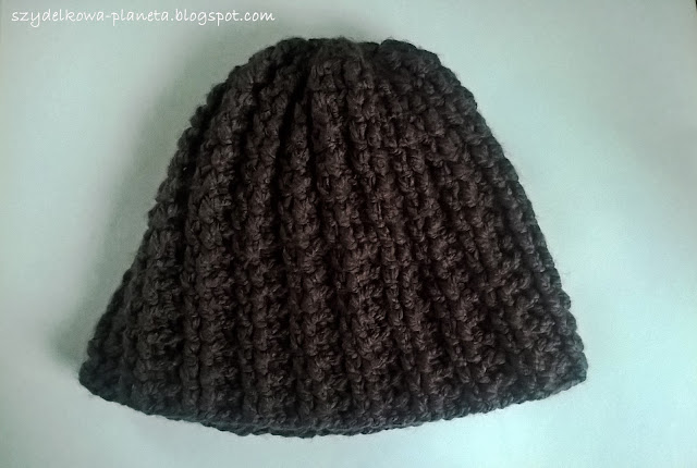 szydełkowa czapka męska