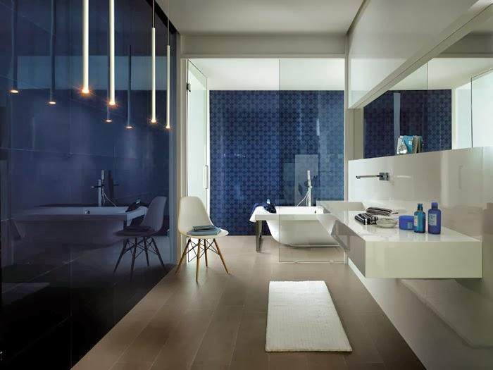Ba os color azul colores en casa - Banos reducidos diseno ...