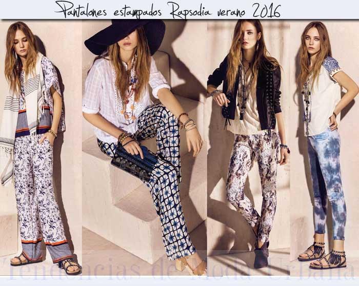 pantalones estampados  Rapsodia 2016