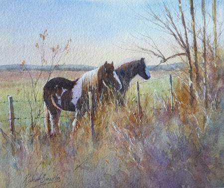 http://www.robertbrindley.com/WatercolourDemonstrationofPoniesNearScarborough.htm