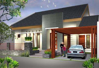Gambar Rumah Desain Minimalis Warna Ungu