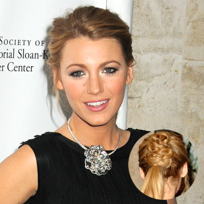 Blake Lively Curly Hair on Blake Lively Hair Updo
