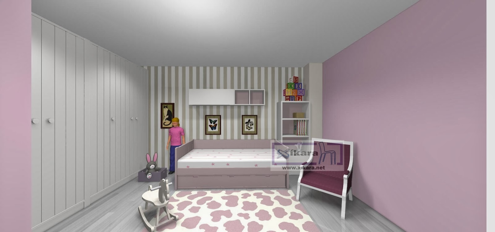 Publicado por xikara muebles en 23 17 - Pintar habitacion juvenil nina ...