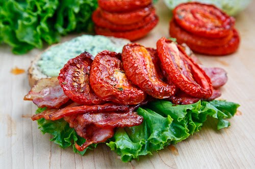 Slow Roasted Tomato BLT on Closet Cooking