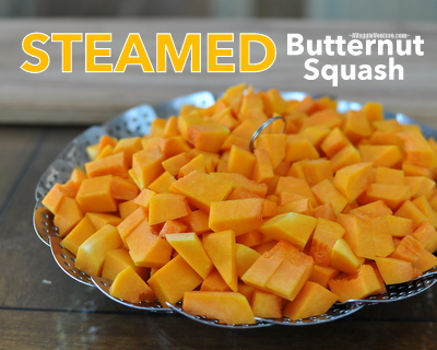 How to Steam Butternut Squash in a Collapsible Steamer Basket ♥ AVeggieVenture.com.
