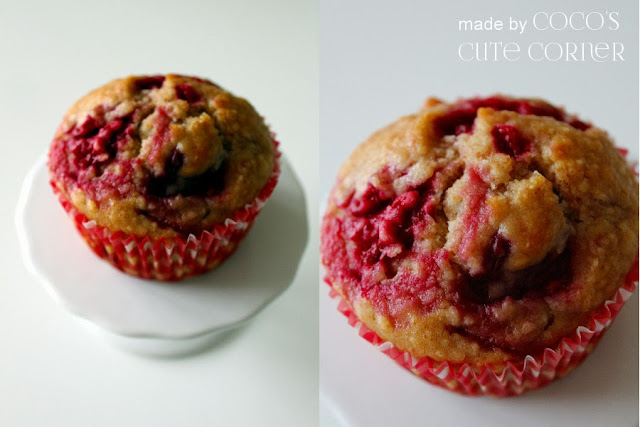 Raspberry Coconut Muffins