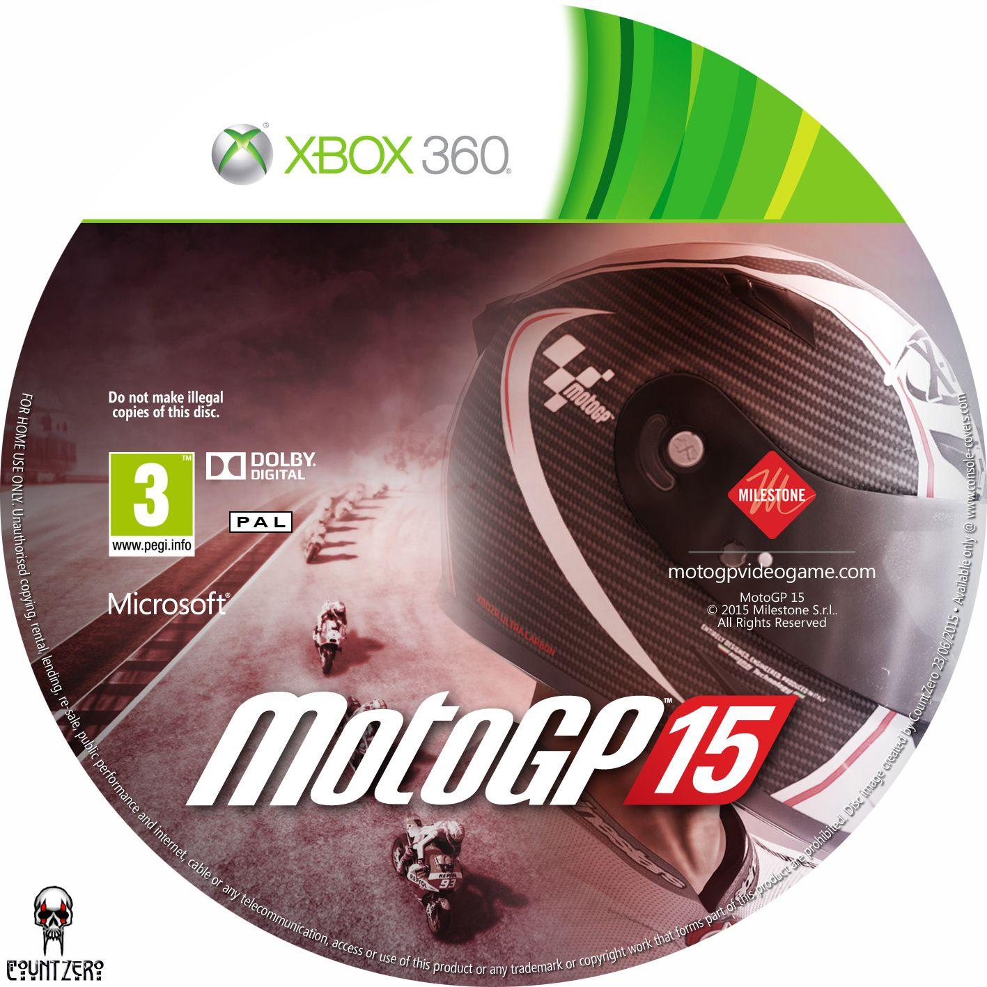 Label MotoGP 15 Xbox 360 - Gamecover | Capas customizadas para DVD e Bluray