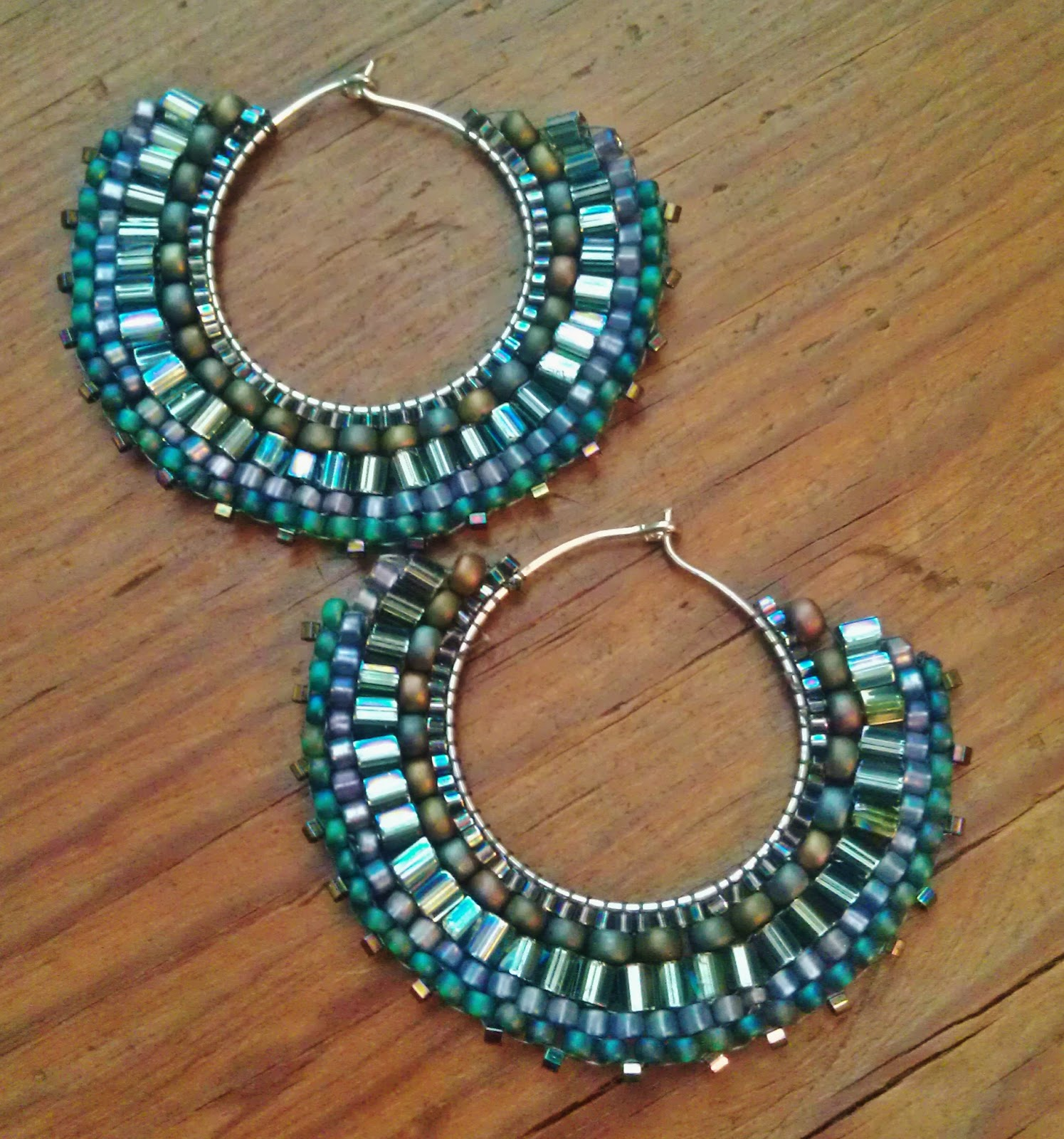 pin used stitch with beads to miyuki earrings brick these seed make