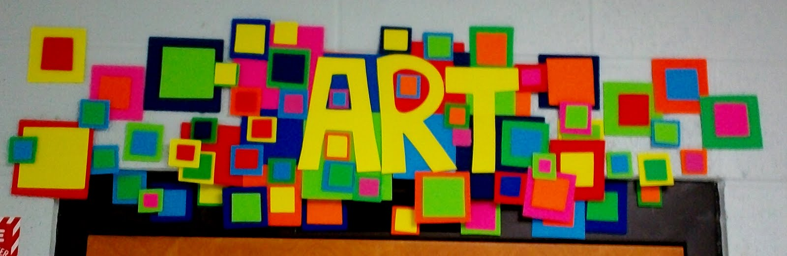 Art with mr e art room bulletin boards displays 2011 for Art room door decoration
