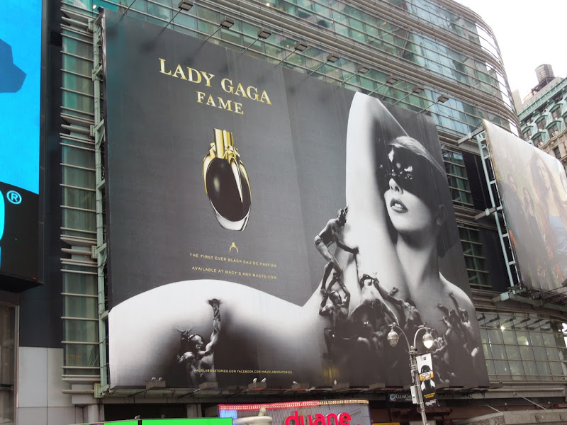 Lady Gaga Fame fragrance billboard NYC