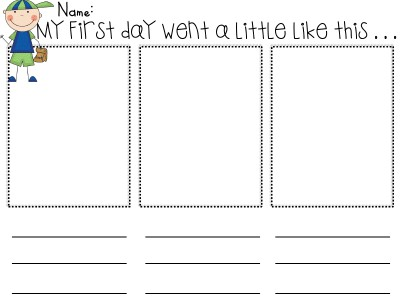 First Day of School Printable Activities