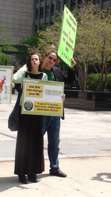 Lyme Patients protesting in Chicago