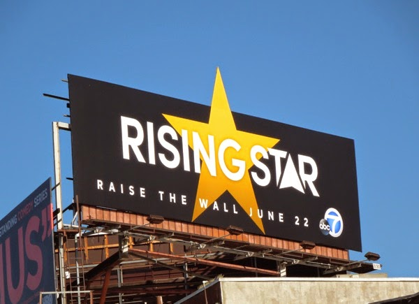 Rising Star series premiere special extension billboard
