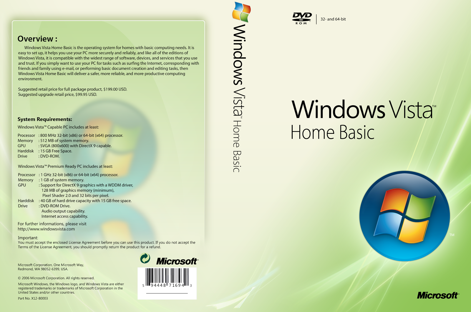 Free Download Microsoft Windows Vista Home Basic Ultimate ...