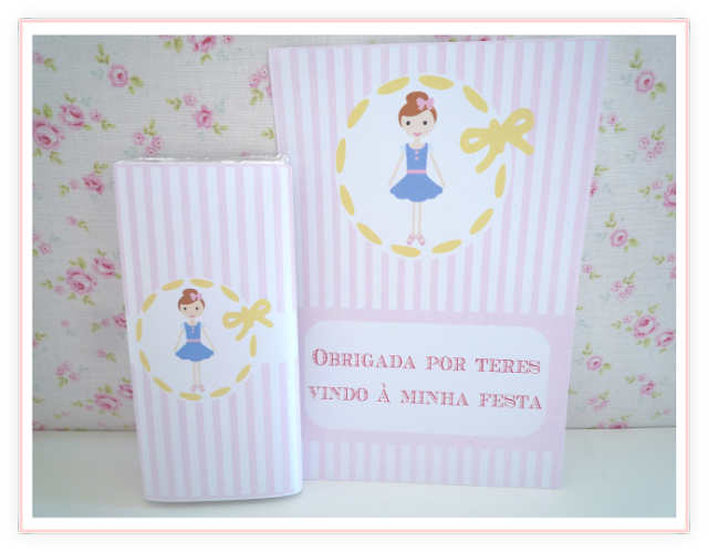 Personalised sweet little girl invitation from BistrotChic