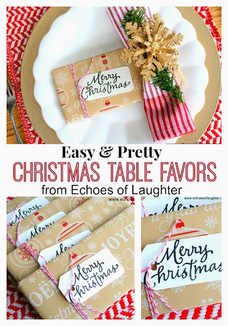 Echoes of laughter pretty christmas table favors or gifts - Table gifts for christmas ...