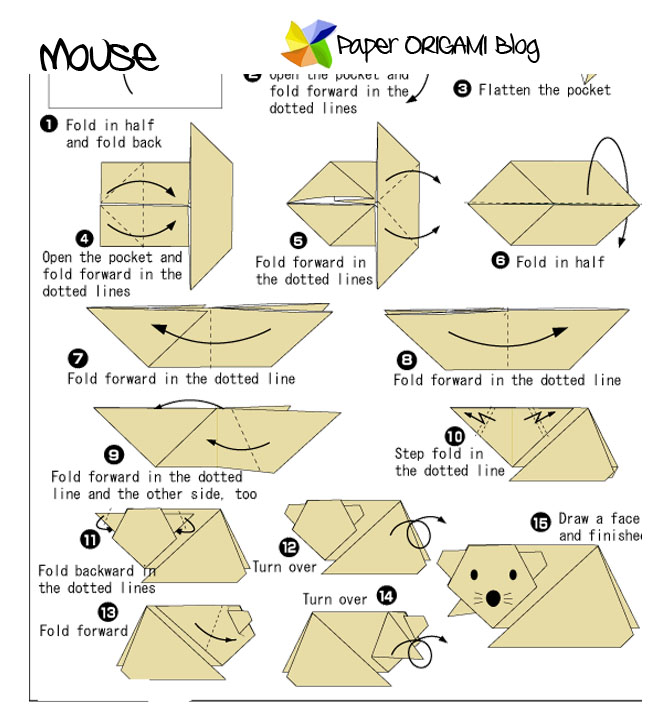 Paper Origami Mouse