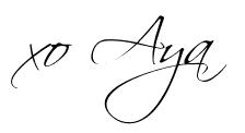 aya oguri, signature