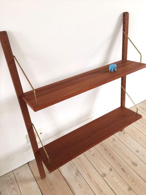 Retro Furniture: Teak reolsystem med 2 hylder