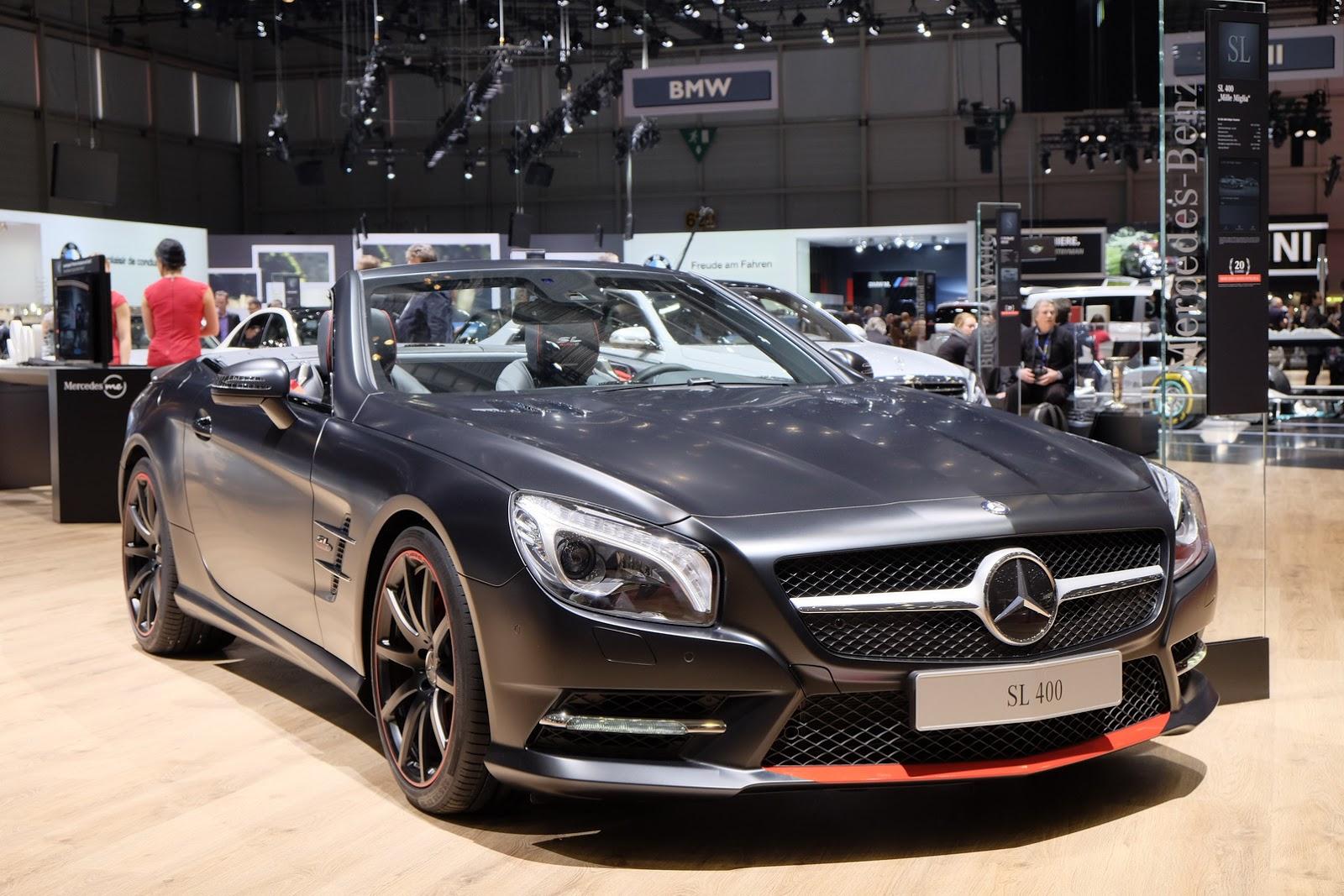 Geneva Auto Sales >> Mercedes-Benz SL Mille Miglia 417 Special Flaunts Its Matte Body In Geneva | Carscoops