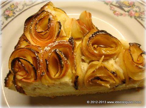 Torta  di mela e crema alla mandorla