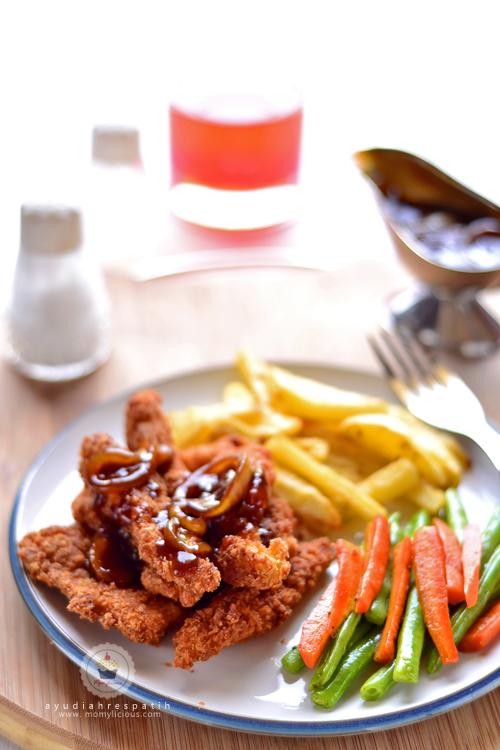 Chicken Strips Saus Teriyaki