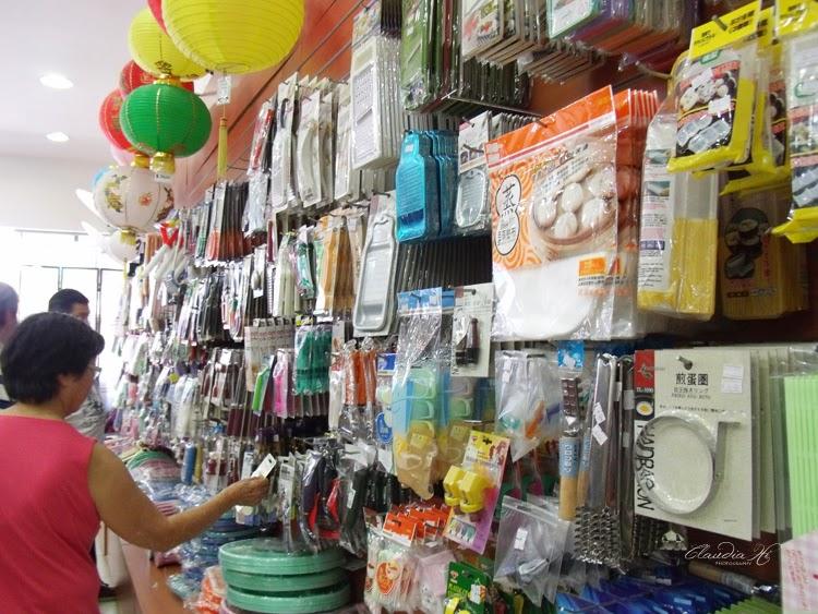 Variedade de produtos da loja