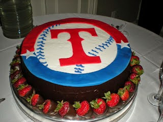 Texas Rangers groom's cake