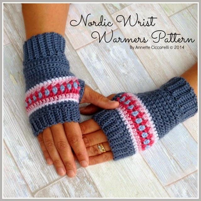 Nordic Wrist Warmers Pattern