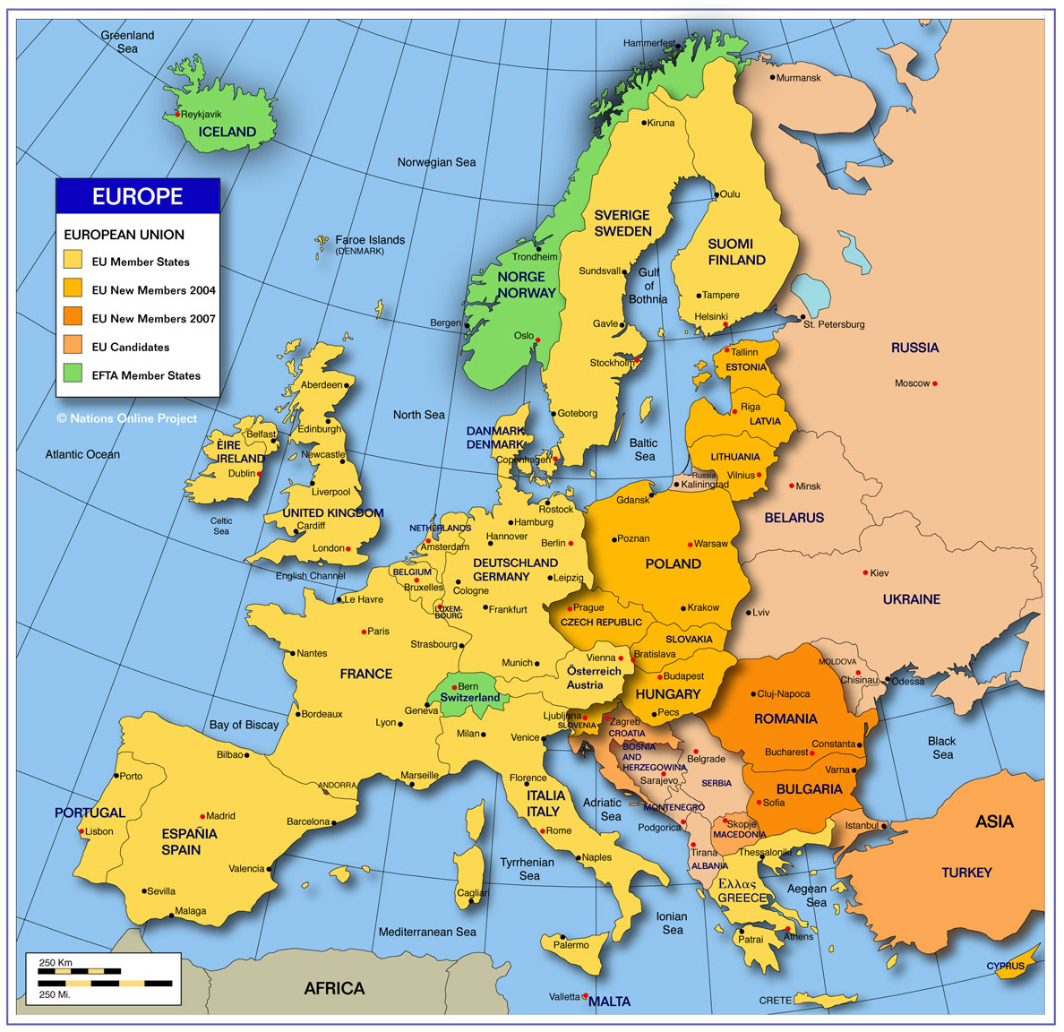 countrys of europe