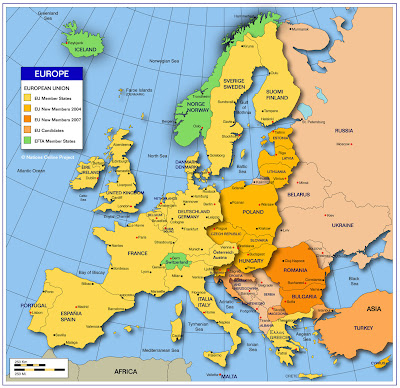 Maps of Western Europe (3)