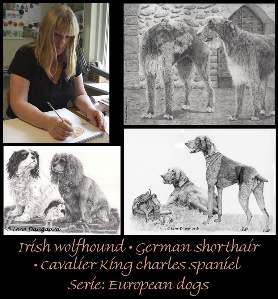 Serie af hundetegninger