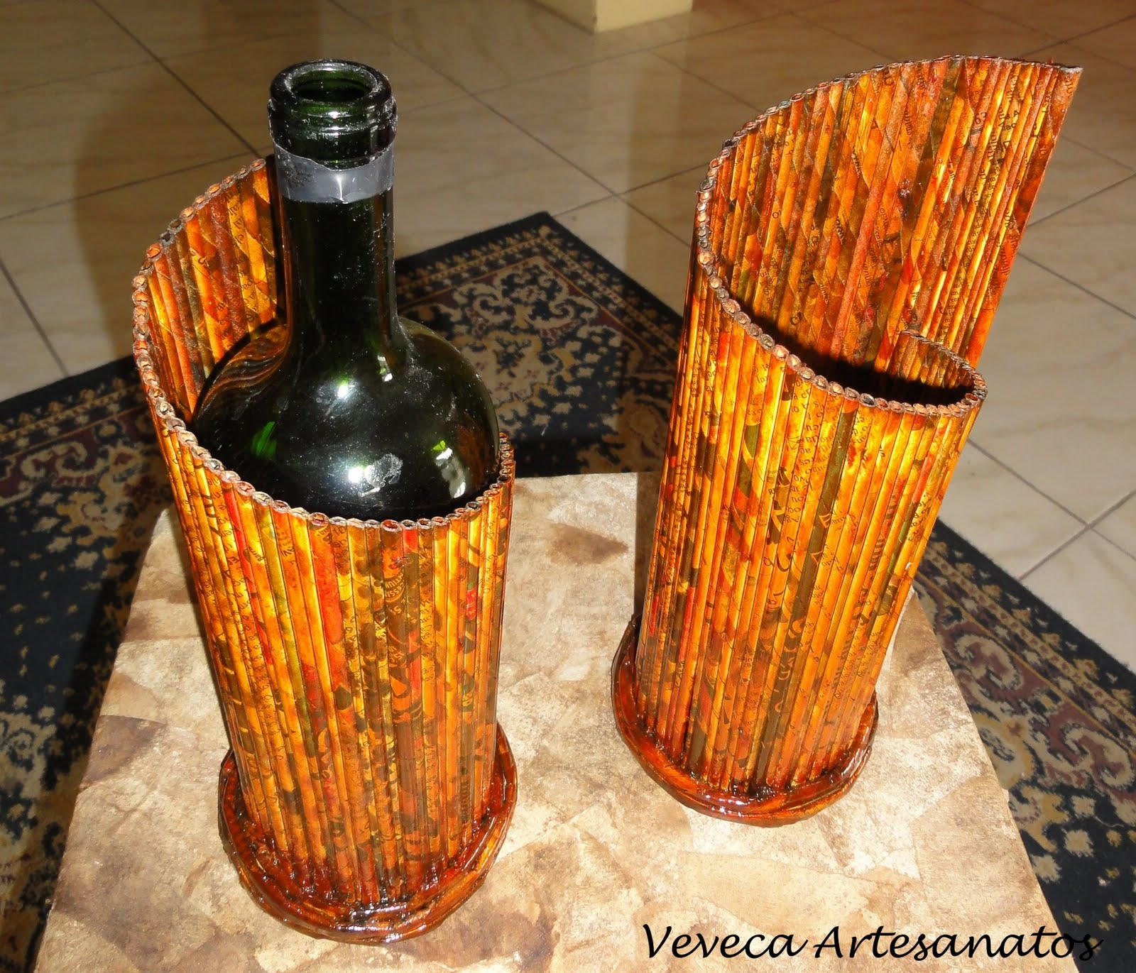 Плетеная бутылка для вина своими руками