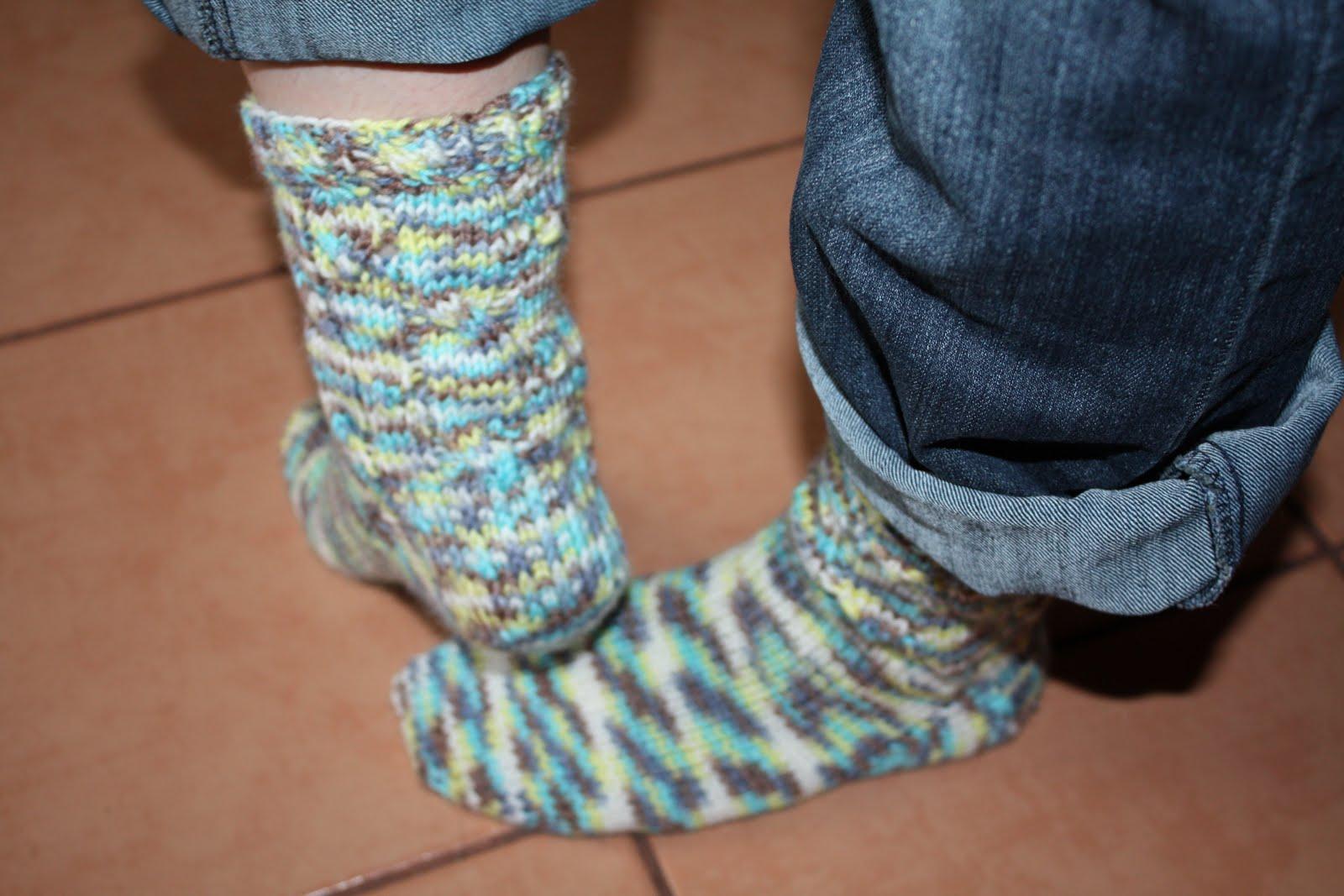 Ленивое вязание носков