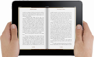 Image of an iPad opened to an iBook