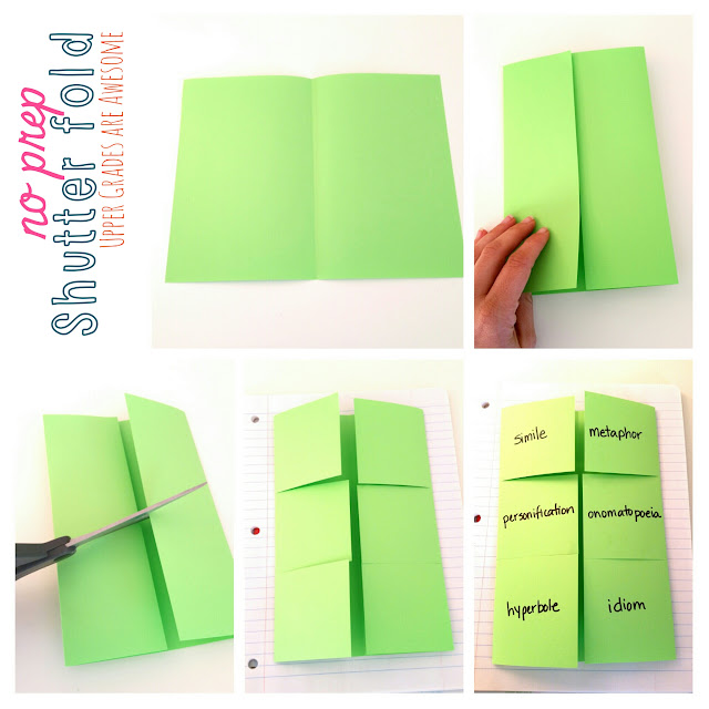 shutter fold template