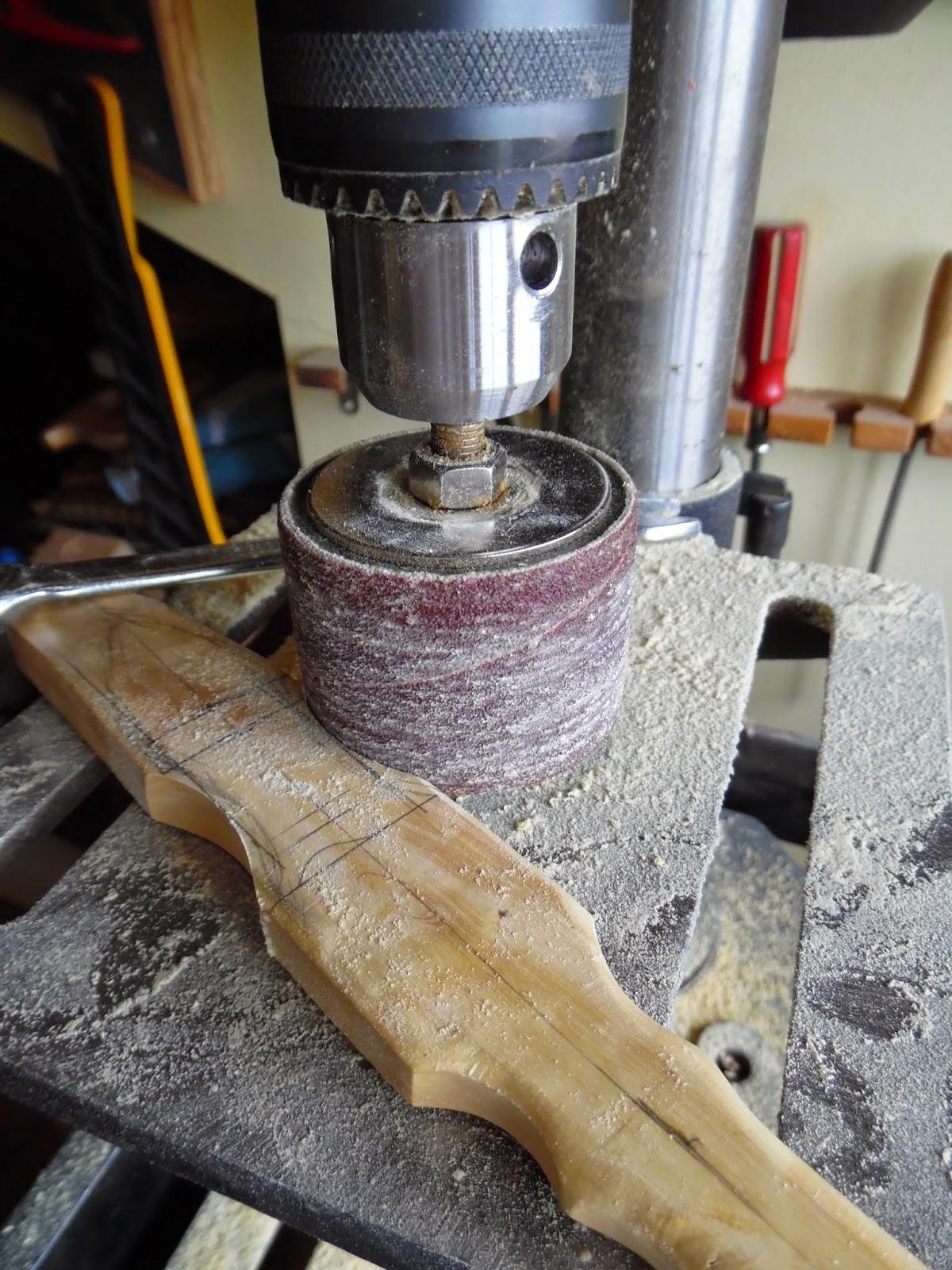 El rinc n de un aprendiz una esp tula en madera de boj - Lijas para taladro ...