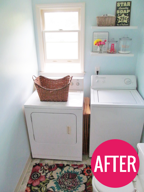 Laundry room makeover on the cheap the house on hillbrook Adding bathroom to laundry room