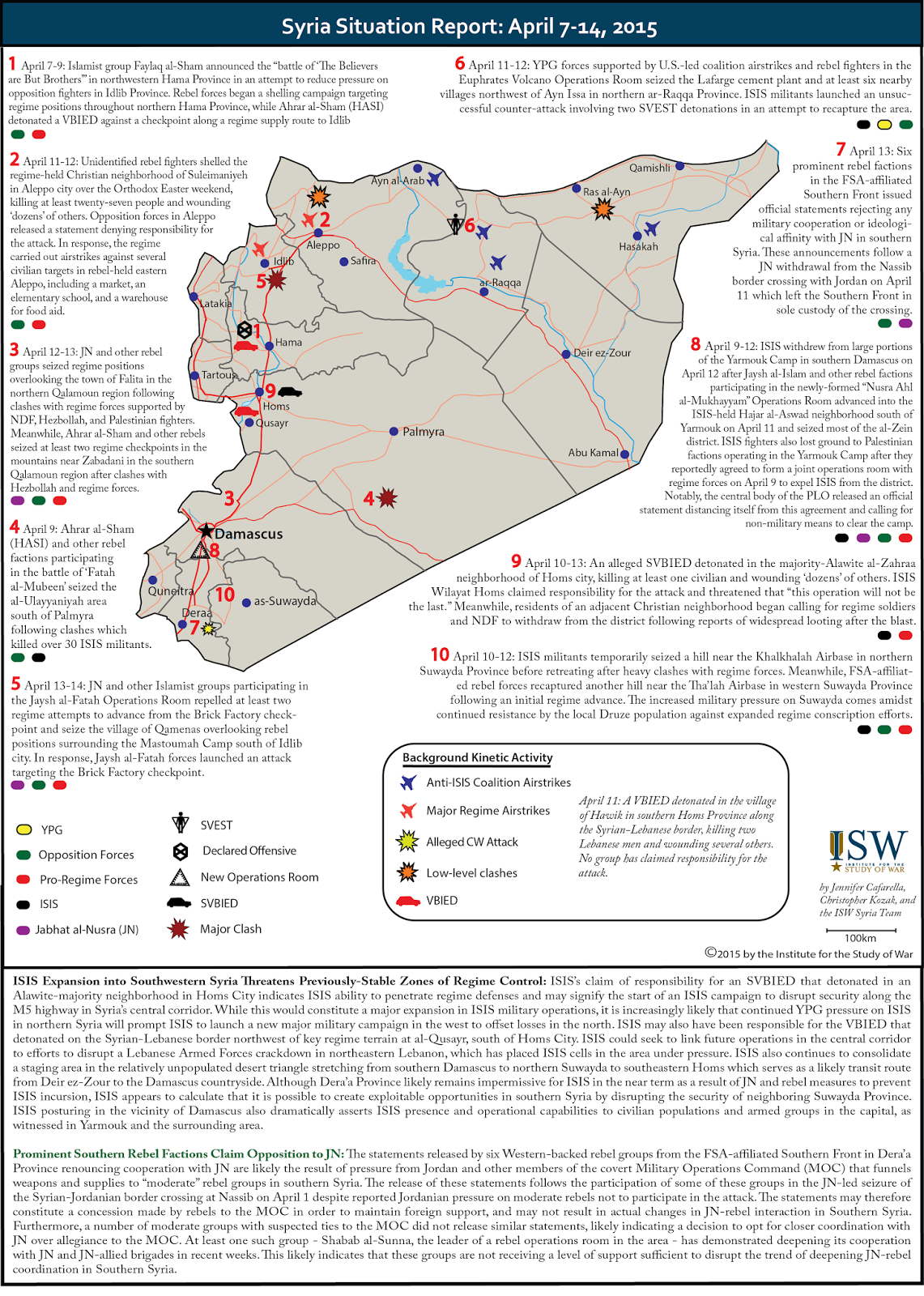Syria Situation Report: April 7-14, 2015
