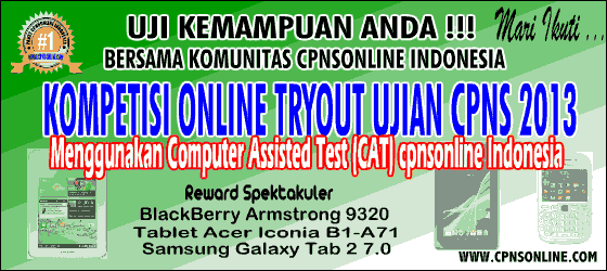 Tryout CPNS 2013