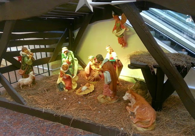 The intu Trafford Centre in Manchester Christmas nativity scene