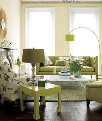 sala verde olivo