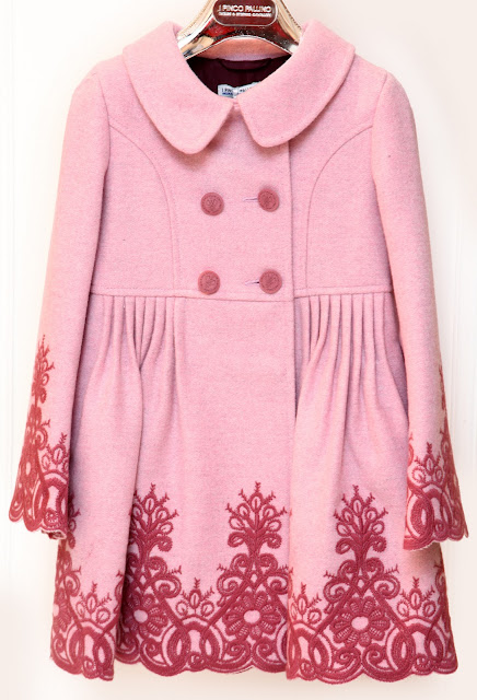 PINCO PALLINO Pink Shaded Winter Coat